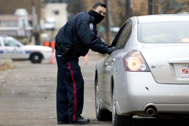 A police officer in Edmonton,