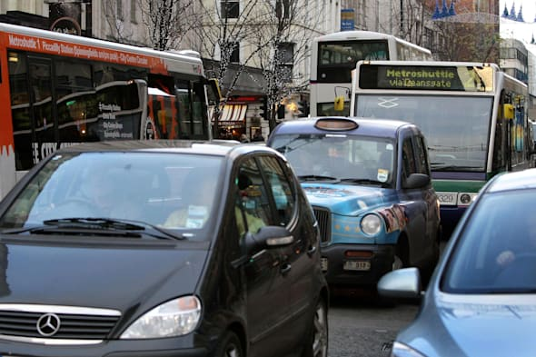 London rush hour traffic is slowest in country