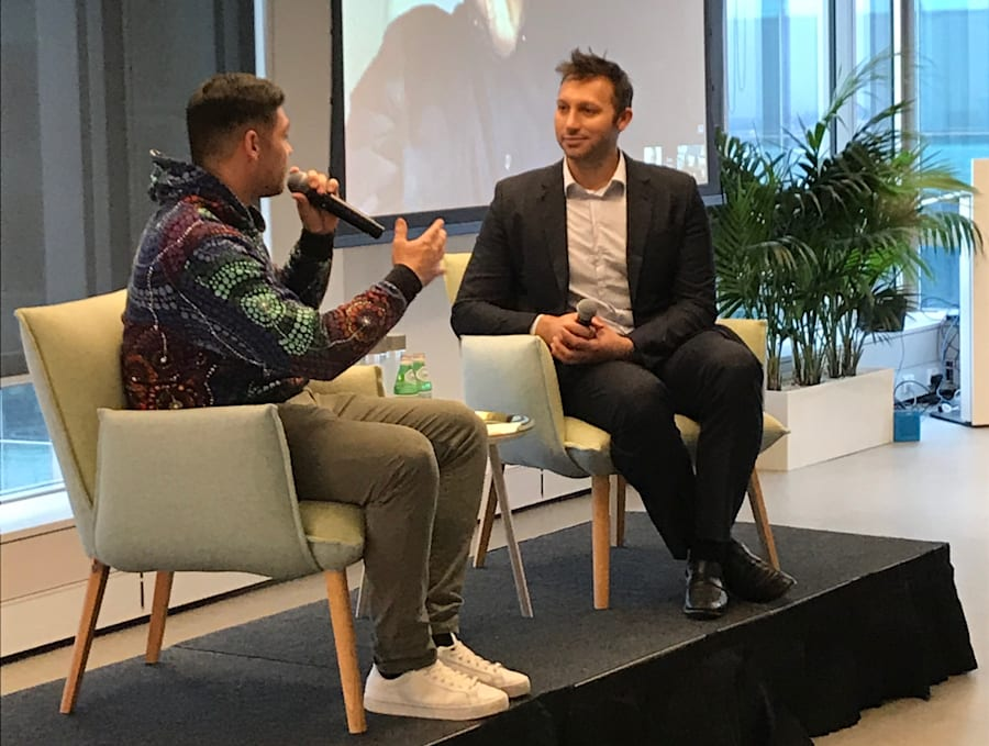 Ian Thorpe in conversation with AIME's Jake