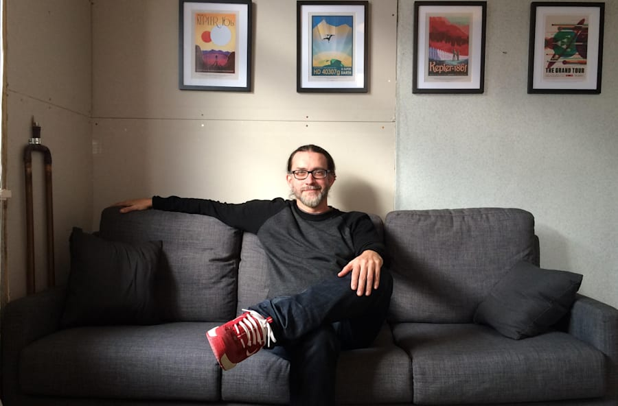 Rocket scientist turned entrepreneur Lance Lones in his Wellington