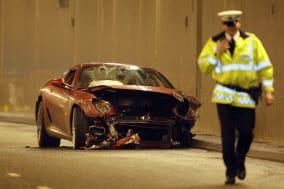 Britain Soccer Ronaldo Crash