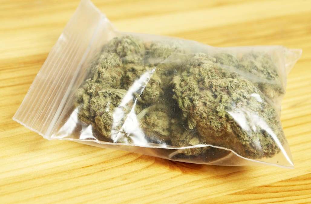 bag of pot  marijuana