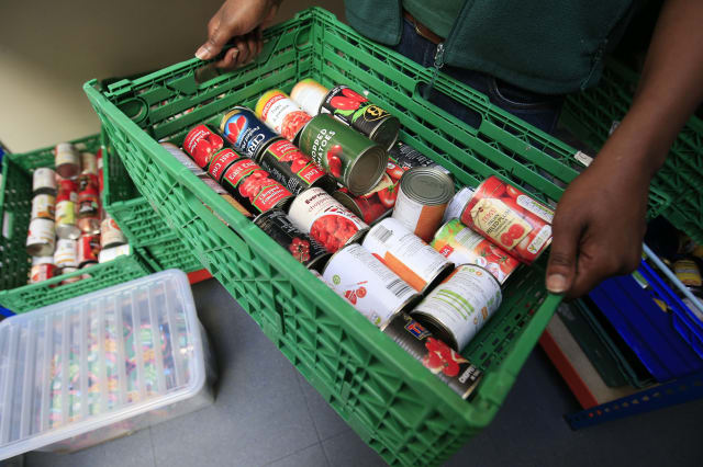 Highest number of parcels distributed by leading foodbank
