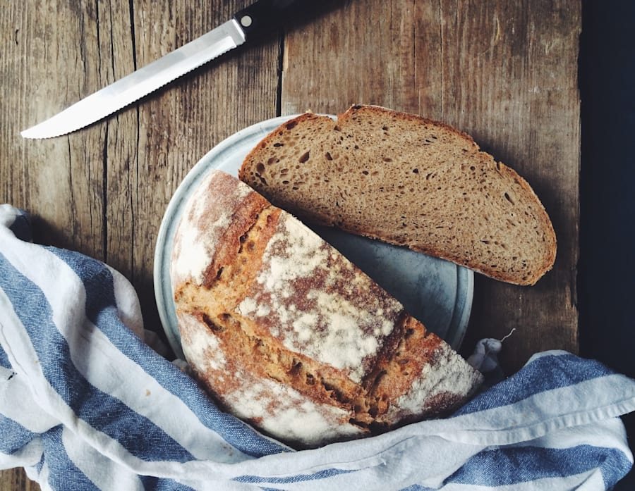 Sourdough bread is made from wild yeast, which can help support your good gut