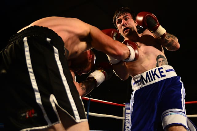 Boxing at Bellahouston Sports Centre in Glasgow