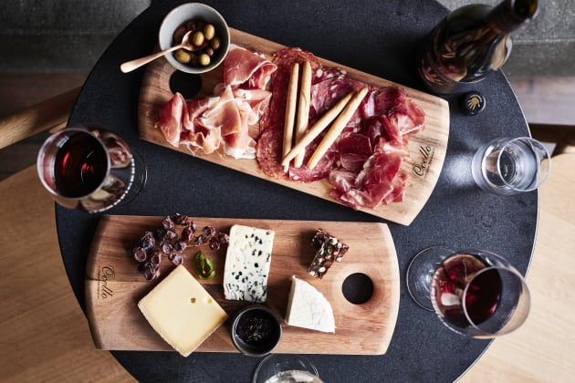 Just wine and cheese,