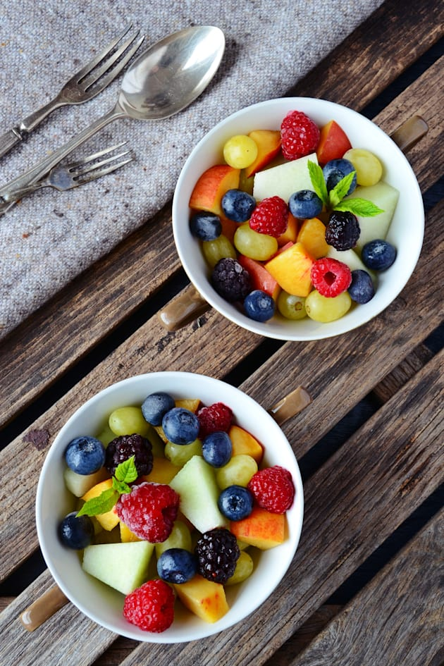 The natural sugars in fruit are processed differently in the