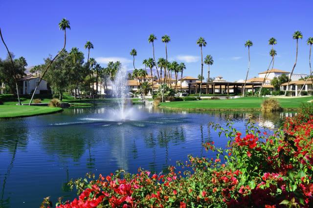 view of golf resort in palm...