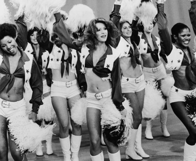 Dallas Cowboy Cheerleaders Performing