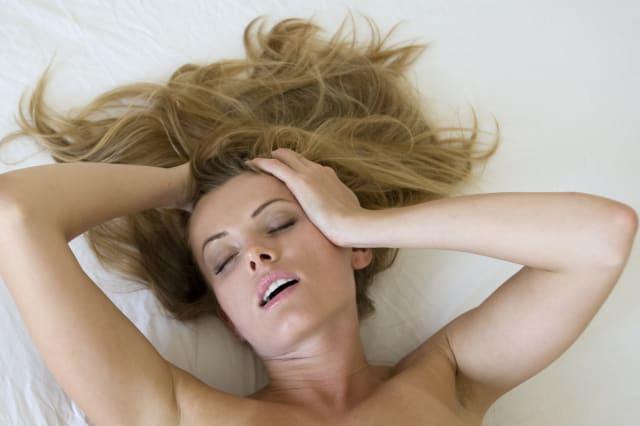 woman having an orgasm