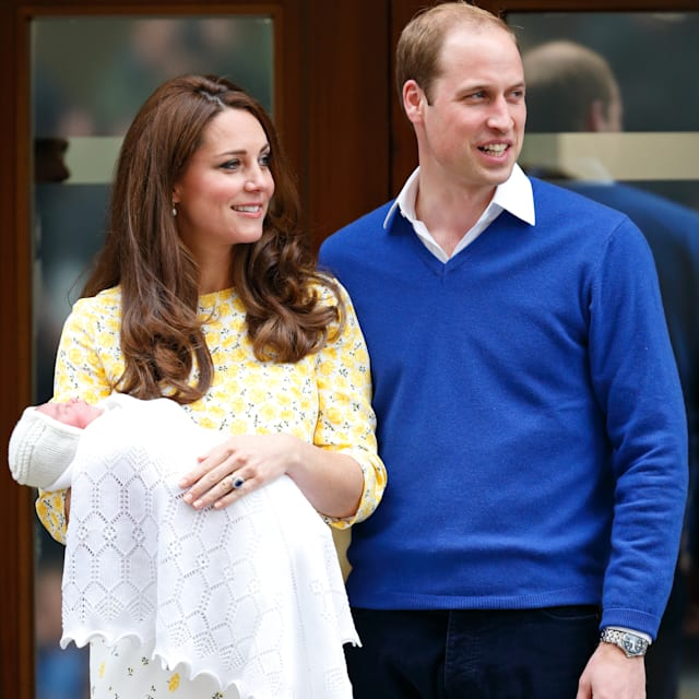 The Duke and Duchess of Cambridge present Princess Charlotte