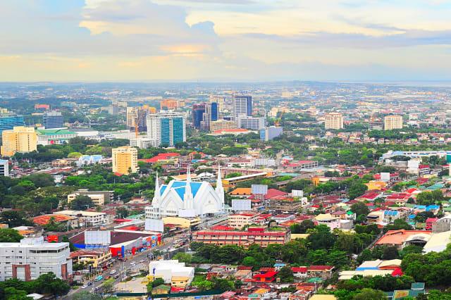 Metro Cebu at sunset