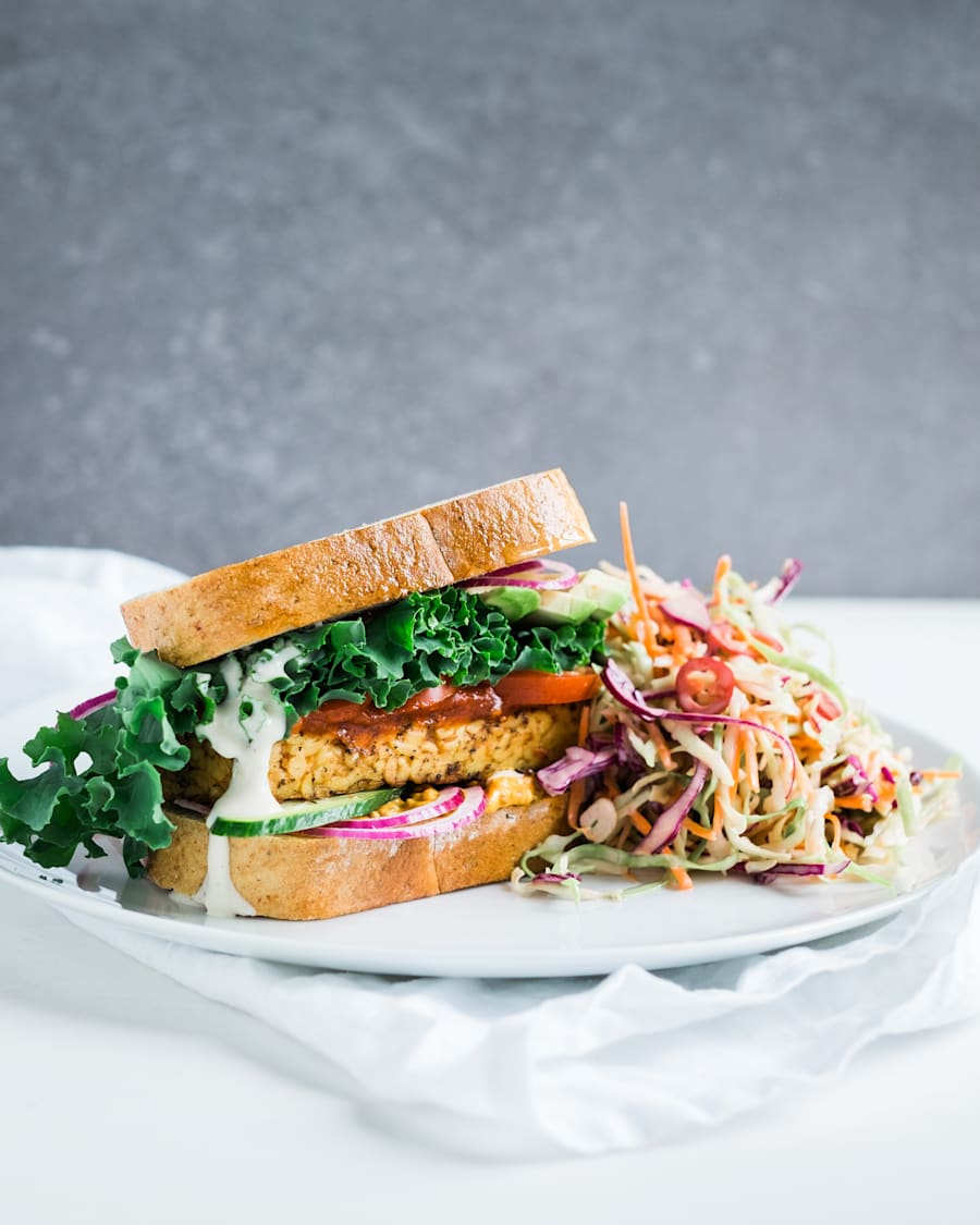 Tempeh is an Indonesian soy product, similar to tofu, which you can use in stir fry, burgers and