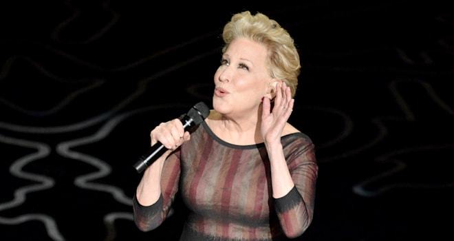 oscars 2014 bette midler wind beneath my wings