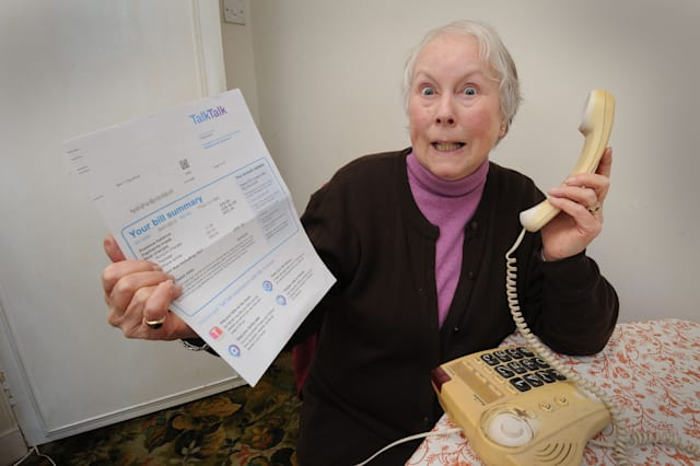 Carol Sandford of Ballantrae has received her telephone bill from Talk Talk, which includes a 24 minute call to directory enquiries 118 118 for �81.12.