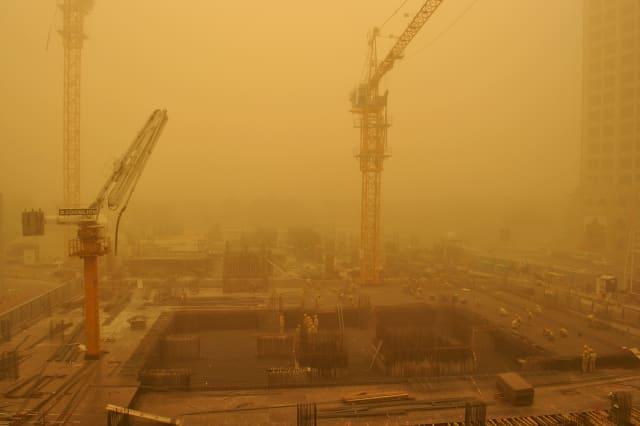 Mideast Emirates Gulf Sandstorm