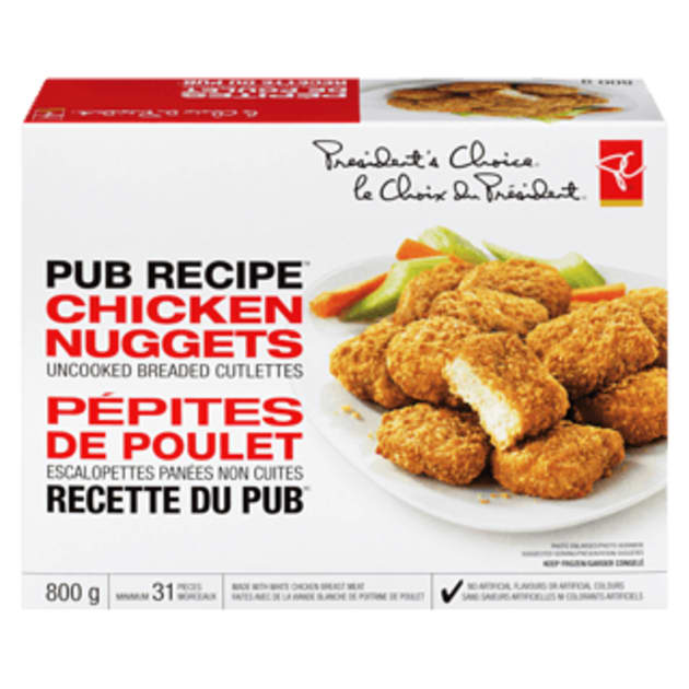 """Loblaw is recalling President's Choice pub recipe chicken nuggets out of """"an abundance of"""
