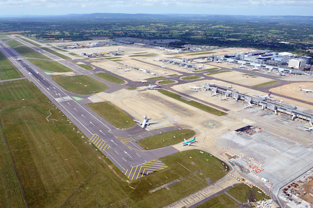 Passenger jets in near miss at Gatwick Airport
