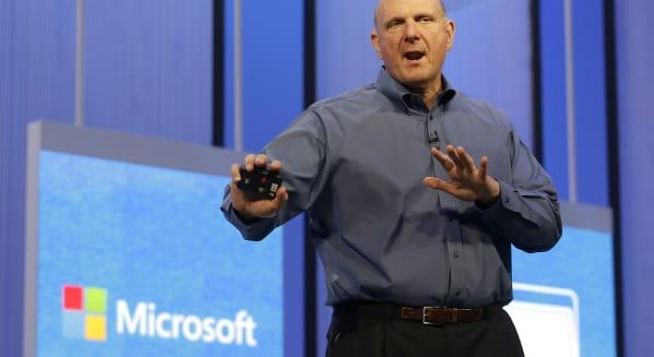 microsoft ceo steve ballmer earnings windows pc sales google ge stocks