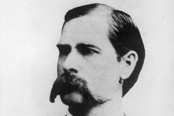 American lawman and gunfighter Wyatt Earp, late 1800s.