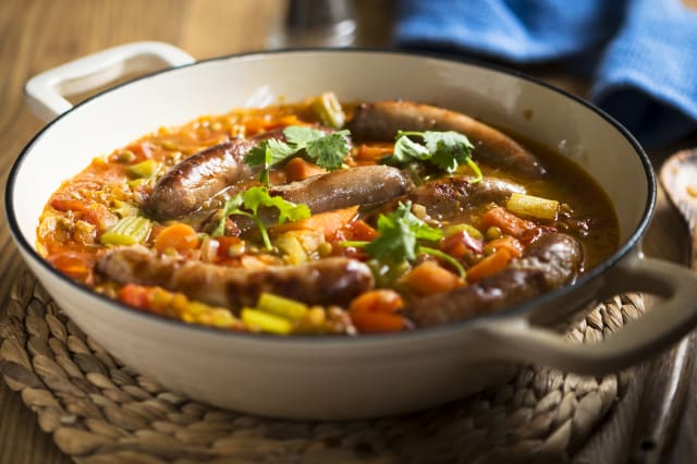 sausage lentils casserole