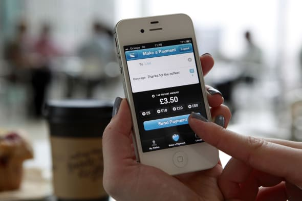 Undated Barclays handout photo of a smartphone with the Barclays Pingit App. The number of bank transactions made on mobile phones has doubled in a year, according to new figures. PRESS ASSOCIATION Photo. Issue date: Monday March 31, 2014. More than 5.7 million transactions a day are made using smartphones and other internet-enabled technology, according to a report from the British Bankers' Association (BBA). See PA story CONSUMER Banking. Photo credit should read: Ben Phillips/VisMedia/PA WireNOTE TO EDITORS: This handout photo may only be used in for editorial reporting purposes for the contemporaneous illustration of events, things or the people in the image or facts mentioned in the caption. Reuse of the picture may require further permission from the copyright holder.