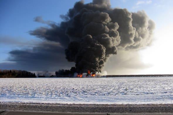 Train Derailment-Fire