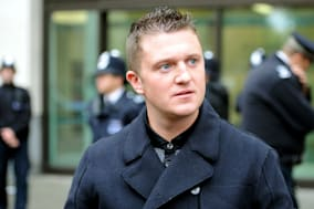 File photo dated 16/10/13 of former leader of the EDL Tommy Robinson (real name Stephen Yaxley-Lennon) who has been jailed for 18 months for mortgage fraud. PRESS ASSOCIATION Photo. Issue date: Thursday January 23, 2014. The 31-year-old had previously admitted two counts of the offence at a hearing in November. See PA story COURTS Robinson. Photo credit should read: Anthony Devlin/PA Wire