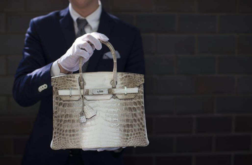 Pictured A Similar Himalayan Crocodile Birkin Bag Photo Reuters