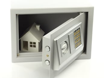house model in safe box. real...