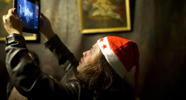Pilgrims Head To The Church of Nativity For Christmas