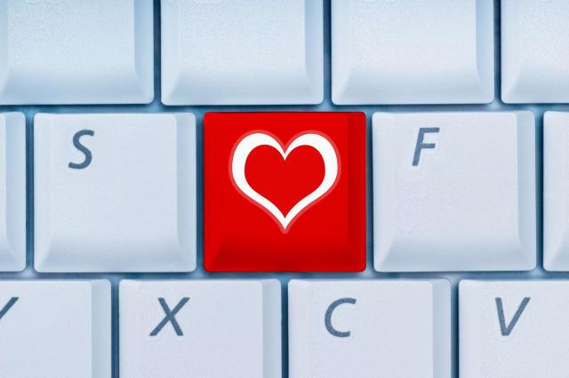 keyboard with heart-key