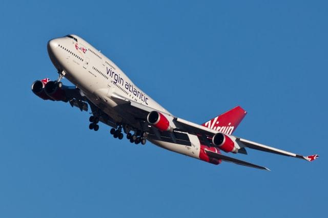 Boeing 747 Virgin Atlantic Airways lands at JFK Airport