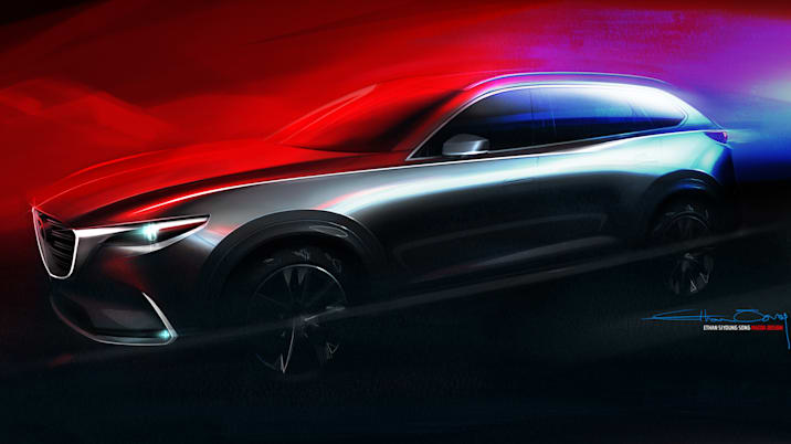 Mazda CX-9 design sketch