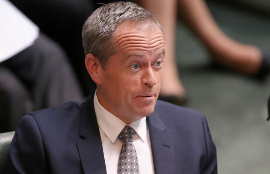 Opposition Leader Bill Shorten was lost for