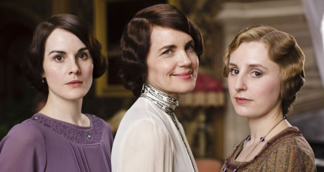 Downton Abbey S4Please Credit Photographer Nick Briggs/Carnival.The fourth series, set in 1922, sees the return of our much loved characters in the sumptuous setting of Downton Abbey. As they face new challenges, the Crawley family and the servants who work for them remain inseparably interlinked.MICHELLE DOCKERY as Lady Mary, ELIZABETH MCGOVERN as Lady Cora and LAURA CARMICHAEL as Lady Edith Photographer Nick Briggs