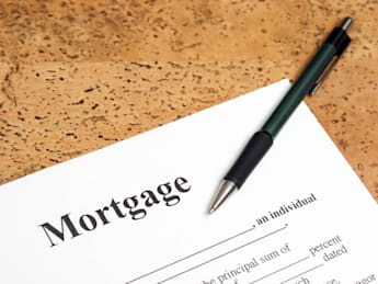 a closeup shot of mortgage...