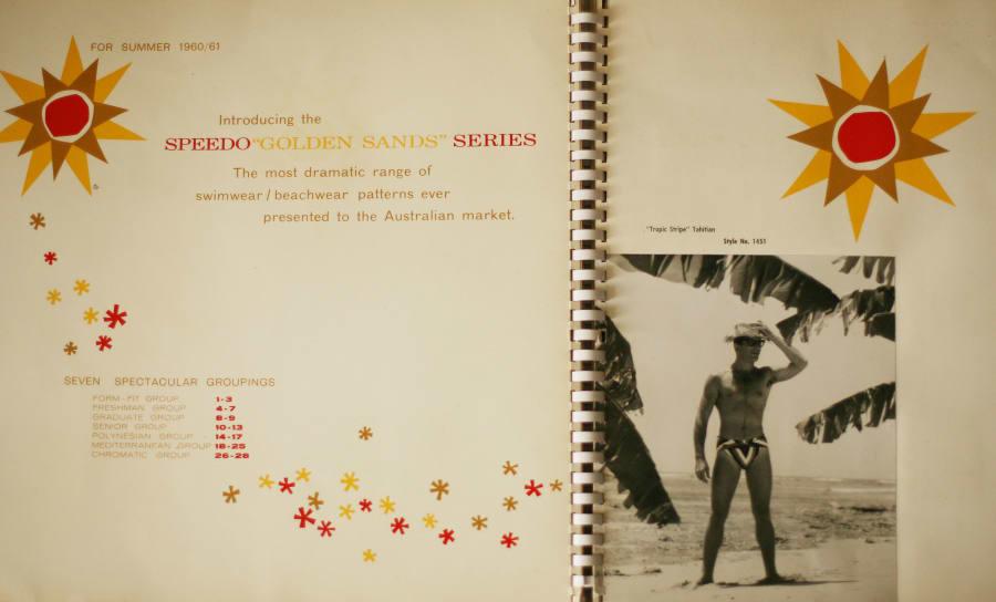 The Speedo Golden Sands Series catalog is a collector's item