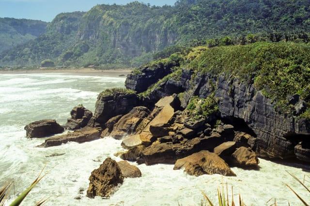 Recently eroded blocks of limestone Punakaiki, West Coast, New Zealand