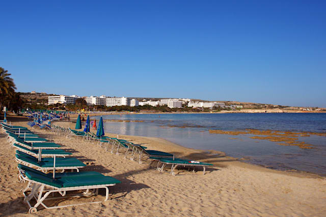 ayia napa beach in  cyprus...