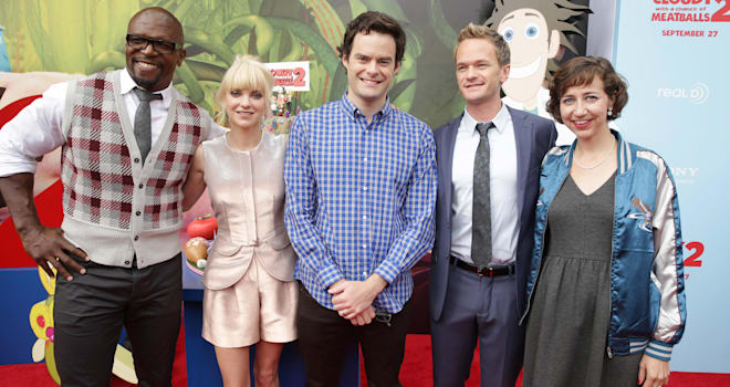 LA Premiere of 'Cloudy with a Chance of Meatballs 2,' Terry Crews, Anna Faris, Bill Hader, Neil Patrick Harris, Kristen Schaal