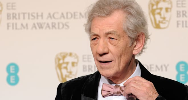 Ian McKellen at the 2013 EE British Academy Film Awards