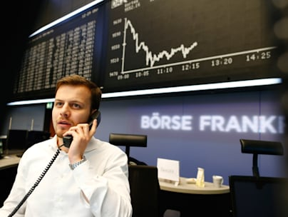 First Day Of 2014 Trading At The Frankfurt Stock Exchange