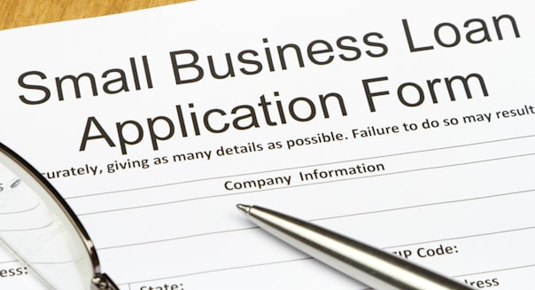 Small Business Loan Application Close-up