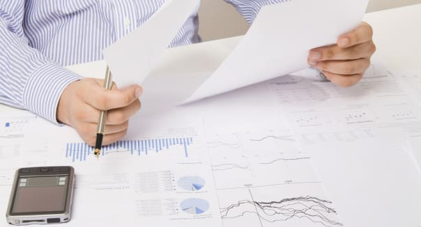 Analyzing and calculating financial reports
