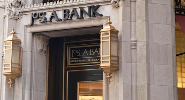 JoS. A. Bank Clothiers store is pictured in Financial district of the New York City borough of Manhattan