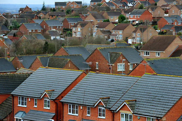File photo dated 05/01/14 of houses in Derbyshire as Property asking prices lifted to a new record high of nearly ?256,000 in March amid a