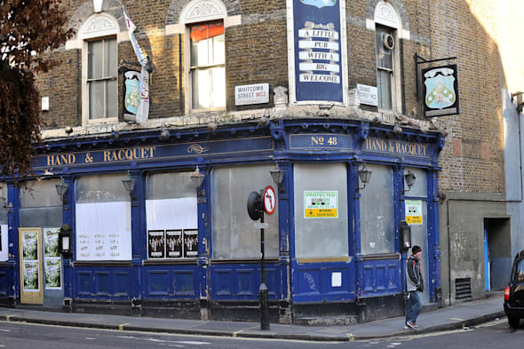 File photo dated 01/02/12 of the closed down Hand & Racquet pub, in London's west end as the Government is being urged to do more to help pubs survive after new figures showed that 28 were closing every week. PRESS ASSOCIATION Photo. Issue date: Monday March 3, 2014. The Campaign for Real Ale (Camra) said the figure had increased by two a week since last year. The campaign group said more needed to be done to protect pubs. See PA story INDUSTRY Pubs. Photo credit should read: Sean Dempsey/PA Wire
