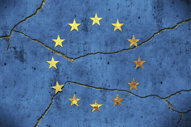 Europe / broken symbol on a wallMore photos of themes about crisis of the world countriess in my personal Lightbox: