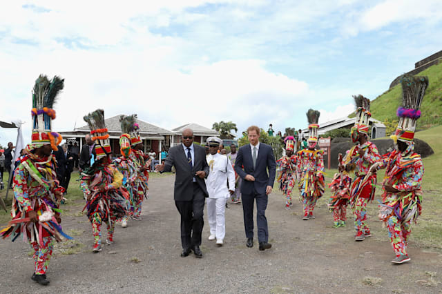 Prince Harry visit to the Caribbean - Daybean - Day Four